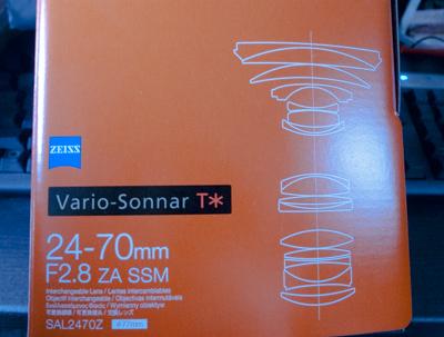 Vario-Sonnar T*ズームレンズ 24-70mm F2.8 ZA SSM(SAL2470Z)