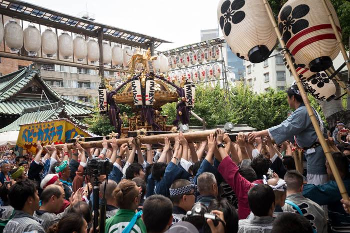 湯島天神例大祭で宮入を見てきたっ!