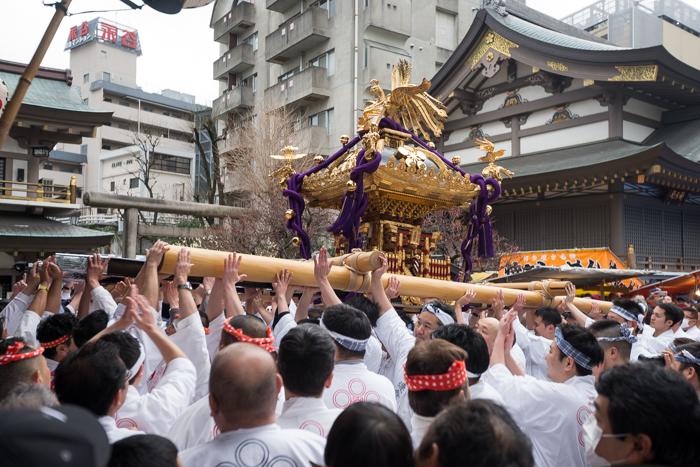 湯島天神「梅まつり」で神輿渡御を見てきたっ!(第61回)(平成30年)(2018年)