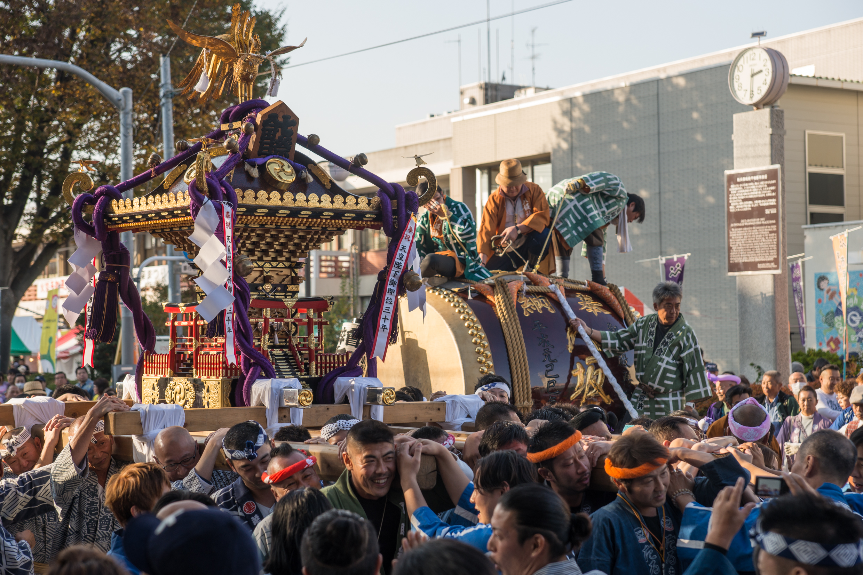 第57回東村山市民産業まつりで神輿と山車を見てきましたっ!