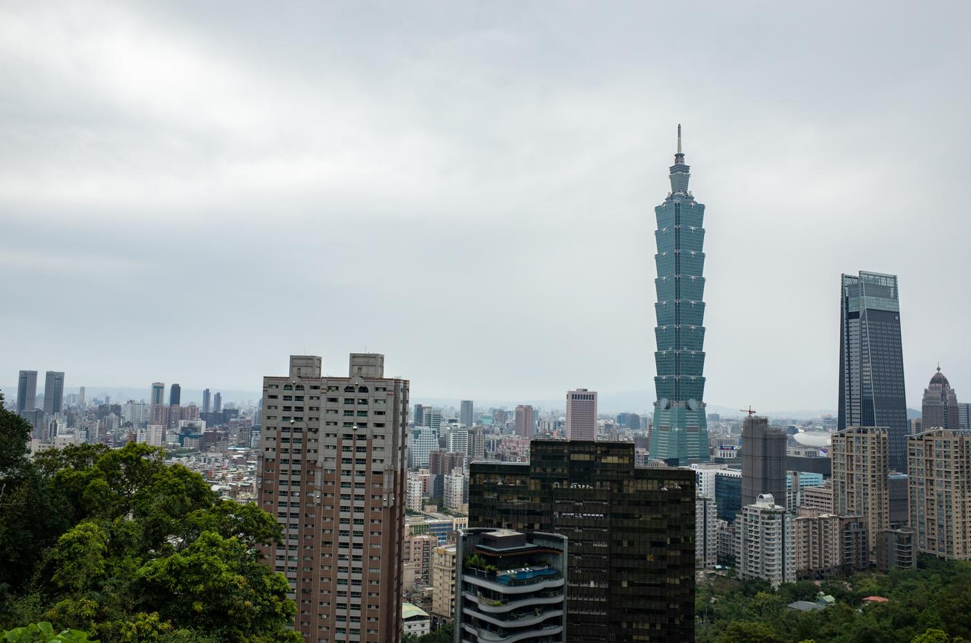 象山から台北101の写真を撮ってきたっ!(台湾2日目)