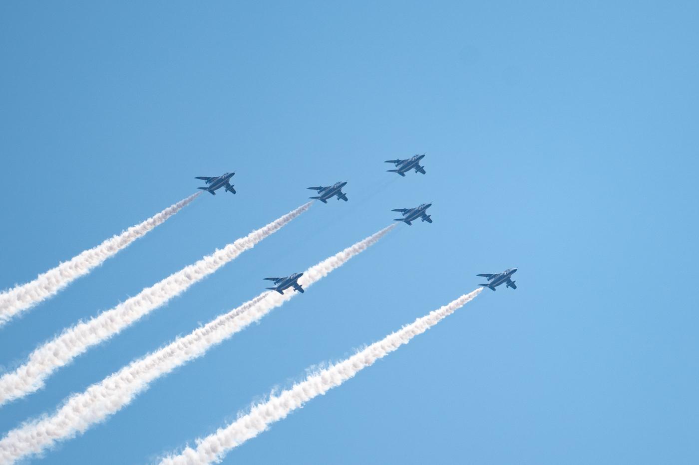ブルーインパルス感謝飛行を撮ったっ!